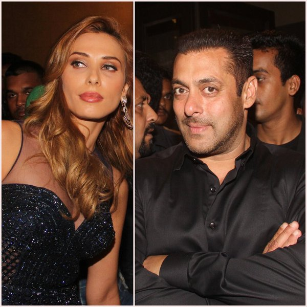 Salman Khan and Lulia Vantur at Preity Zintas wedding reception