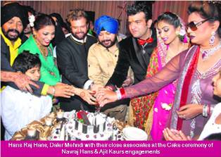 Mehndi Ceremony Wiki : Navraj hans engaged to ajit kaur daughter of daler mehndi